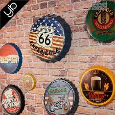 Decorated Bottle Caps Wholesale Different Size Vintage Beer Bottle Cap Wall Decoration 48