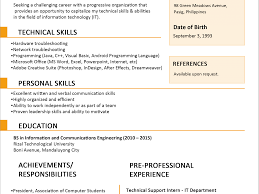 Awesome Sample Resume For Fresh Graduates Teacher With No Experience