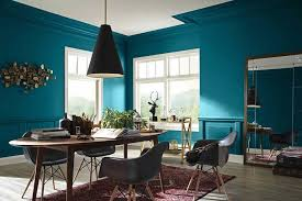 dining room blue paint ideas. Blue Beautiful Wall Paint Ideas For Stunning Dining Room Design With Modern Chandelier Fixture Above Oval Table Furniture And Square Mirror Decorating Also I