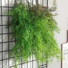 2019 2019 fern plant wall hanging grass vine artificial plants for new house garden decoration flower plante artificielle greens from haifoo