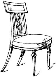 chair clipart. french empire period chair clipart