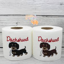 dachshund doxie embroidered novelty toilet paper dog lover gift dog home decor birthday gift bathroom decorations gifts by designsbyraja on etsy