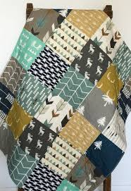 Best 25+ Baby boy bedding ideas on Pinterest | Boy nurseries, Boy ... & Modern Baby Quilt, Woodland Crib Bedding, Woodland Crib Quilt, Navy and  Mustard Quilt, Crib Bedding Boy, Baby Bedding Woodland, The Lodge Adamdwight.com