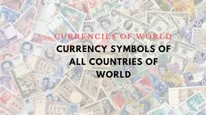 World Currency Chart Pdf List Of Currency Symbols Of All Countries Of World With