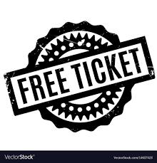 Free Tiket Free Ticket Rubber Stamp