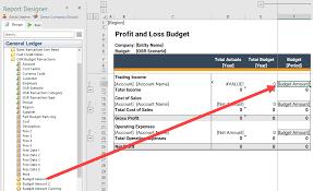 Create Budget Template In Report Designer Onestop