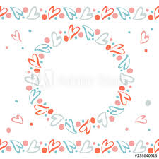 Party Borders For Invitations Romantic Wreath And Endless Horizontal Borders With Hand