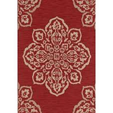 medallion red 8 ft x 10 ft indoor outdoor area rug red mustard turquoise