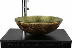 bathroom cloakroom tempered glass basin jb1