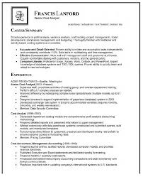 Sample Resume Summary Statement For Business Analyst Free Office