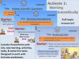 Activate 1: Working Scientifically 1.1 Asking Scientific Questions ...