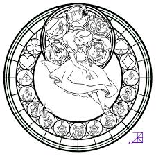 Stained Glass Coloring Sheets Disney Pages Books For Kids 10500