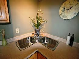 corner sink kitchen design. Kitchen : Interesting Corner Sink On Cabinet . Design