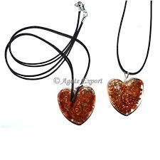red jasper orgone puffy heart pendants