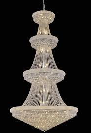 elegant lighting 1800g48c rc primo 42 light large foyer crystal chandelier in chrome with royal cut clear crystal