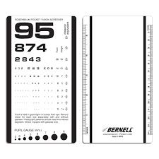Rosenbaum Pocket Vision Screener Assessments Bernell