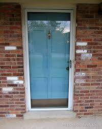 metal front doorPainted Metal Storm Door And Front Door  Home Improvement