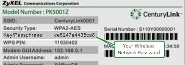wireless network connections 101 centurylink modem sticker password