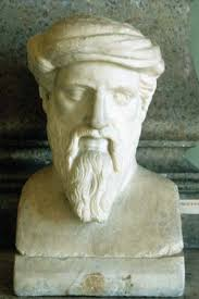 pythagoras biography philosophy facts com pythagoras portrait bust