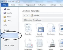 How To Use A Resume Template In Word 2010