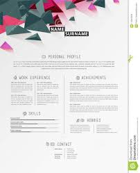Creative Simple Cv Template With Triangle Shapes In Header