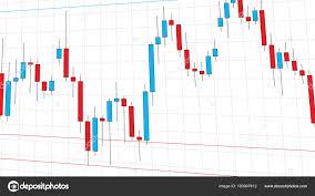 Candlestick Stock Chart Stock Exchange Market Candlestick Chart Stock Vector