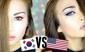 korean makeup vs american makeup asian vs western style