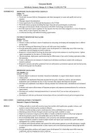 Response Manager Resume Samples Velvet Jobs