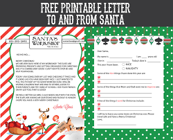 Printable Template Letter From Santa Download Them Or Print