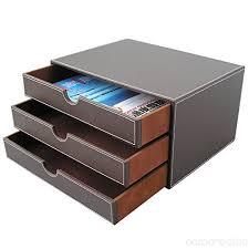 desk drawer paper organizer. Delighful Organizer Office Leather Desktop Storage Box A4 Document Holde Drawer Paper Organizer  For Home Container  On Desk K