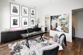 office art ideas. Office Artwork Ideas Home Contemporary With Framed Black And White Photos Walnut Flooring Art I