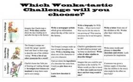 charlie and the chocolate factory teaching ideas charlie and the chocolate factory task grid