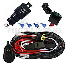 mictuning led light bar wiring harness off road power relay 30 amp mictuning led light bar wiring harness off road power relay 30 amp fuse on off