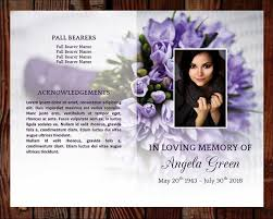 Memorial Program Classy Funeral Program Template 48 Page Program Plus Prayer Card