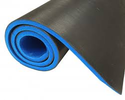 impa 511098 corrugated rubber matting for electric proof 20 000 v 3 x 1000