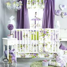 newborn bedding sets baby girl nursery bedding sets with purple colors room and curtains and chandelier