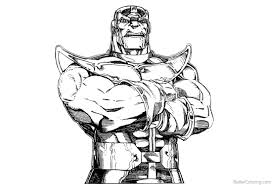 Avengers Infinity War Coloring Pages Characters Marvel Thanos Free