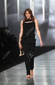 ZAGREB, CROATIA - MARCH 14 Fashion Model Wears Clothes Made.. Stock Photo,  Picture And Royalty Free Image. Image 18479828.