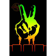 Us 6 15 23 Off Huge Rasta Peace Poster Print Silk Fabric Print Poster Print Cloth Fabric Wall Poster Custom Satin Poster Cd 19 In Wall Stickers From