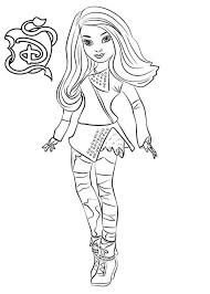 Mal From Descendants Coloring Pages Free To Print Get Coloring Page