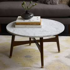 furniture home marble top coffee table west elm west elm round marble coffee table