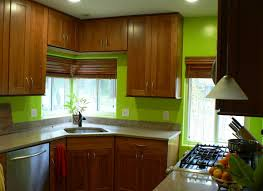 Green And Grey Kitchen Green Kitchen Walls With Brown Cabinets Cliff Kitchen