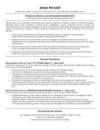 2018 Sample Resume Law Officer Margorochelle Com