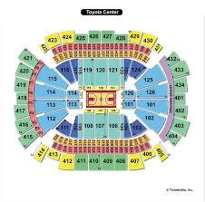 Wwe Seating Chart Toyota Center Toyota Center Houston Tx Seating Chart View
