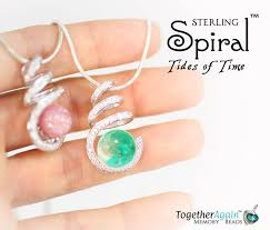 cremation memorial jewelry sterling spiral in tides of time 2