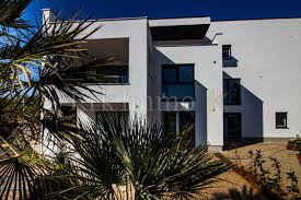luxury apartment in krk with sea view and additional bivalve space with garden