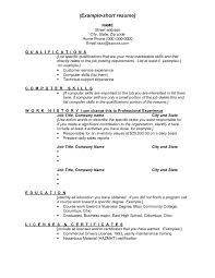 Key Skills Examples For Resume Template Section Construction
