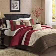... Red And Brown Bedroom 8 Exclusive Inspiration Madison Park Serene 7  Piece Comforter Set Brick Queen ...