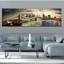 Modern Paintings For Living Room Aliexpresscom Buy Modern Landscape Painting The Brooklyn Bridge