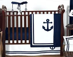 unique navy hotel nautical boat anchor cute baby boy crib bedding set target